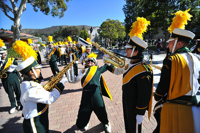 The Pride of the Pacific, the Mustang Marching Band, performs on game day vs Eastern Washington. November 16, 2013. Photo by Ian Billings.