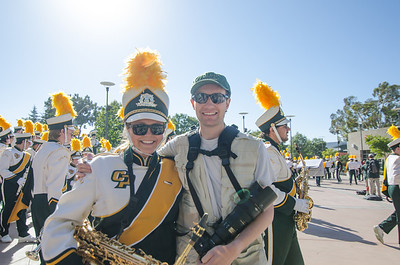 The Pride of the Pacific, the Mustang Marching Band, performs on game day vs Eastern Washington. November 16, 2013. Photo by Beth Billings.