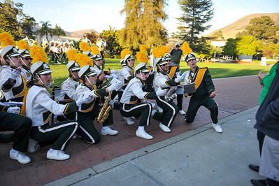 The Pride of the Pacific, the Mustang Marching Band on game day vs Northern Arizona. October 26, 2013. Photo by Ian Billings.
