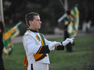 The Pride of the Pacific, the Mustang Marching Band, performs on game day vs Sacramento State. November 9, 2013. Photo by Ian Billings.