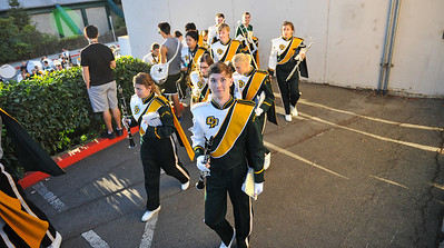 The Pride of the Pacific, the Mustang Marching Band, travels to UC Davis. November 1, 2013. Photo by Ian Billings.