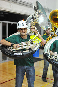 Pep Band B during a Men's Basketball vs Nevada. November 12, 2013. Photo by Ian Billings.