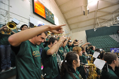 Pep Band C performs during a Men's Basketball game vs Cal State Northridge. Jan. 16, 2014. Photo by Ian Billings