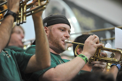Pep Band D during a Men's Basketball game against Long Beach State. Jan. 18, 2014. Photo by Ian Billings