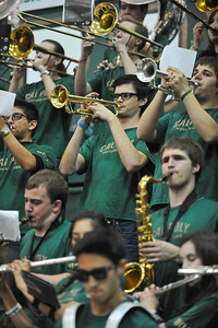 Pep Band D during a Cal Poly Men's Basketball game vs UC Riverside. Feb. 22, 2014. Photo by Ian Billings