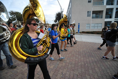 Mustang Band Parade Rehearsal. Jan. 26, 2014. Photo by Ian Billings