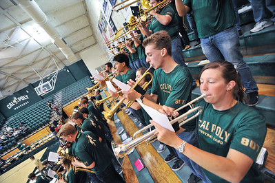 Pep Band C during a Women's Volleyball game vs UC Davis. October 18, 2013. Photo by Ian Billings.