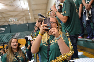 B Band at Cal Poly Women's Volleyball vs Long Beach State. September 28, 2013. Photo by Ian Billings