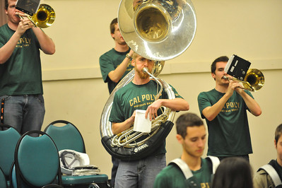A Band during a Cal Poly Women's Basketball game vs Cal State Fullerton. Jan. 23, 2014. Photo by Ian Billings