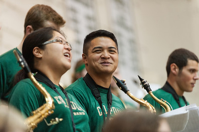 A Band during a  Women's Basketball vs Hawai'i.  Feb. 8, 2014. Photo by Ian Billings