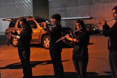 Pep Band B during a Women's  Basketball game vs Cal State Northridge.Feb. 13, 2014. Photo by Ian Billings