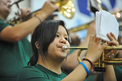 Pep Band B during a Women's  Basketball game vs Cal State Northridge.Feb. 13, 2014. Photo by Ian Billings