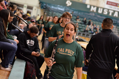 Pep Band D during a Women's Soccer game vs New Mexico State. Nov. 18, 2013. Photo by Joseph Pack