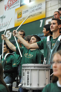 Band C during a Women's Basketball game vs UC Irvine. Mar. 1, 2014. Photo by Ian Billings
