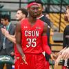 Cal Poly Men's Basketball hosted CSUN at Mott Athletics Center.  Photo by Owen Main 1/12/19