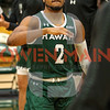 Cal Poly Men's basketball hosted Hawaii. Photo by Owen Main 2/23/19
