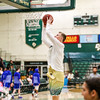 Cal Poly Men's Basketball hosted UTA. Photo by Owen Main 12/21/18
