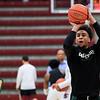 Cal Poly men's basketball played Santa Clara at the Leavey Center in Santa Clara, CA. Photo by Owen Main 11/8/19