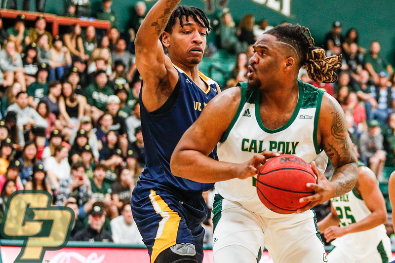 Cal Poly men's basketball hosted UC Irvine on Senior night at Mott Athletics Center in San Luis Obispo.  Photo by Owen Main 2/27/20