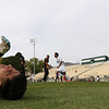 5/5/185:02:47 PM --- Cal Poly Men's Soccer played a spring soccer game against Taft College at Alex G. Spanos Stadium in San Luis Obispo, CA<br /> <br /> Photo by Owen Main / Photos.Fansmanship.com