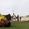 5/5/185:02:48 PM --- Cal Poly Men's Soccer played a spring soccer game against Taft College at Alex G. Spanos Stadium in San Luis Obispo, CA<br /> <br /> Photo by Owen Main / Photos.Fansmanship.com