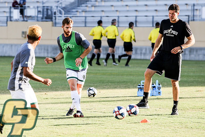 Cal Poly Men's Soccer hosted Cal State Monterey Bay for an exhibition at Alex G. Spanos Stadium. Photo by Owen Main 8/24/19