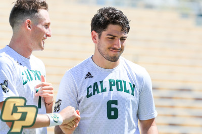 Cal Poly Men's Soccer hosted Gonzaga at Alex G. Spanos Stadium. Photo by Owen Main 9/15/19