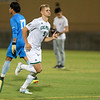Cal Poly Men's Soccer beat 23rd-ranked Loyola Marymount 2-1 at Alex G. Spanos Stadium. Photo by Owen Main 9/26/19