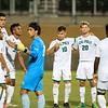 Cal Poly Men's Soccer beat 23rd-ranked Loyola Marymount 2-1 at Alex G. Spanos Stadium. Photo by Owen Main 9/26/19