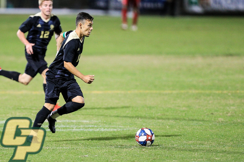 Cal Poly men's soccer hosted UC Davis in San Luis Obispo, CA. Photo by Owen Main 10/9/19