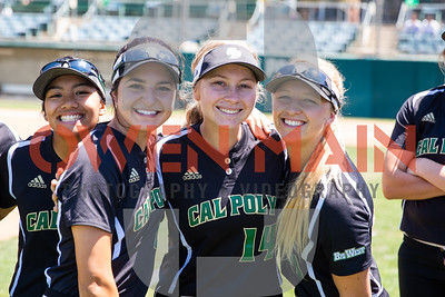 Cal Poly Softball hosted UCSB at Bob Janssen Fieldl in San Luis Obispo, CA. Photo by Owen Main 5/11/19