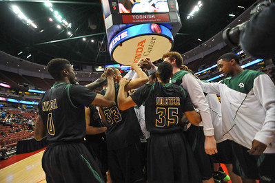 Cal Poly men's basketball takes on UC Irvine during the Big West Tournament semifinal in Anaheim, California.  Mar. 14, 2014. Ian Billings | Staff Photographer