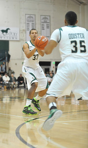 Cal Poly Men's Basketball vs Cal State Dominguez Hills. The Mustangs won 85-49. Dec. 14, 2013. Photo by Ian Billings