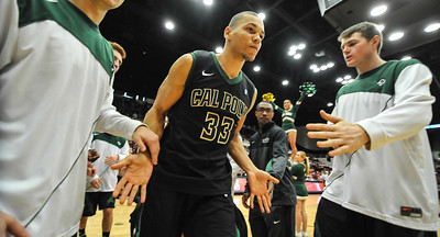 Cal Poly Men's Basketball vs Stanford. Dec. 29, 2013. Photo by Ian Billings