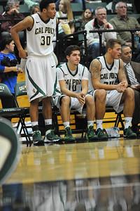 Cal Poly Men's Basketball vs Santa Clara. The Mustangs won 64-53. Dec. 7, 2013. Photo by Ian Billings