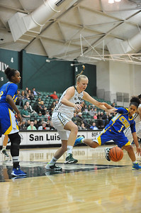 Cal Poly Women's Basketball vs CSU Bakersfield. The Mustangs won 63-54. Dec. 7, 2013. Photo by Ian Billings