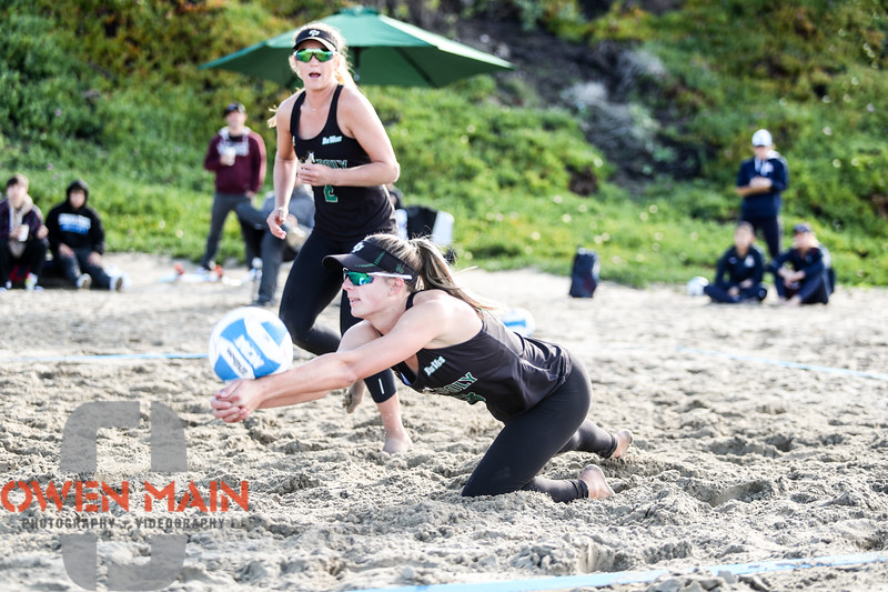 Diving dig by Raeann Greisen on Saturday morning. Mustangs rolled over TCU and U of A. The dominance of that beach team is starting to look a lot like the indoor team. #BeachVolleyball #CalPoly #PismoBeach