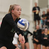 Cal Poly volleyball played Hawai'i at Mott Athletics Center. 10/6/18<br /> <br /> Photo by Owen Main