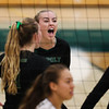 When the reaction says it all.  Senior Adlee Van Winden reacts after the Mustangs win a point.
