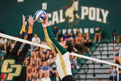 Cal Poly Volleyball hosted Long Beach State at Mott Athletics Center. Photo by Owen Main 9/24/19