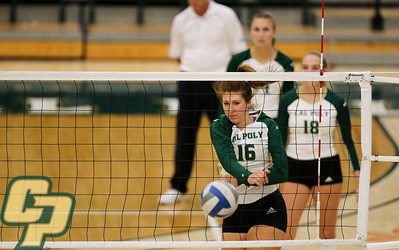 Cal Poly Volleyball hosted San Jose State at Mott Athletics Center. Photo by Owen Main 9/7/19