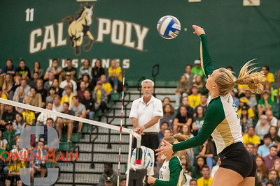 Cal Poly Volleyball hosted UC Davis at Mott Athletics Center on September 18, 2018 9/18/18  Photo by Owen Main