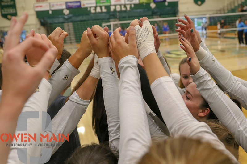 #22 Cal Poly hosted #9UCLA at Mott Athletics Center in San Luis Obispo. 9/6/186:58:22 PM <br /> <br /> Photo by Owen Main