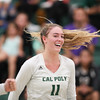 #22 Cal Poly hosted #9UCLA at Mott Athletics Center in San Luis Obispo. 9/6/187:16:33 PM <br /> <br /> Photo by Owen Main
