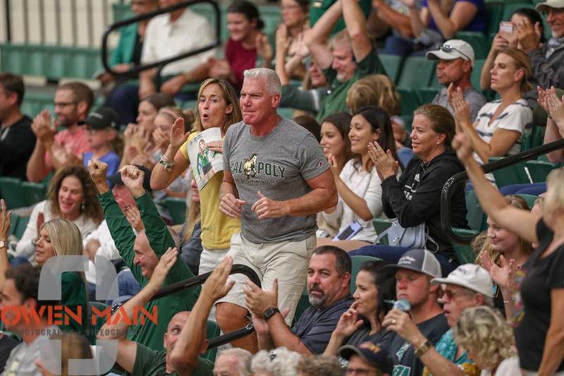 #22 Cal Poly hosted #9UCLA at Mott Athletics Center in San Luis Obispo. 9/6/187:17:23 PM <br /> <br /> Photo by Owen Main
