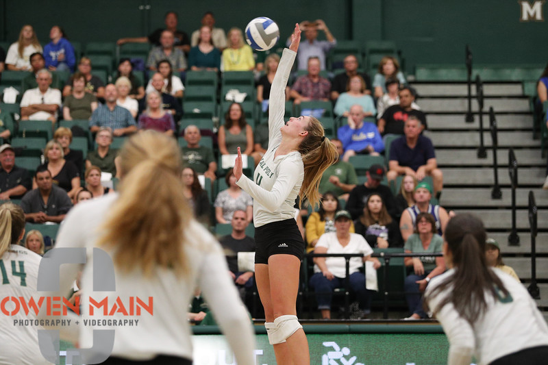 #22 Cal Poly hosted #9UCLA at Mott Athletics Center in San Luis Obispo. 9/6/187:36:32 PM <br /> <br /> Photo by Owen Main