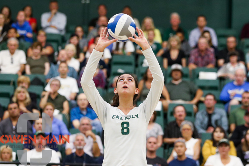 #22 Cal Poly hosted #9UCLA at Mott Athletics Center in San Luis Obispo. 9/6/186:58:53 PM <br /> <br /> Photo by Owen Main
