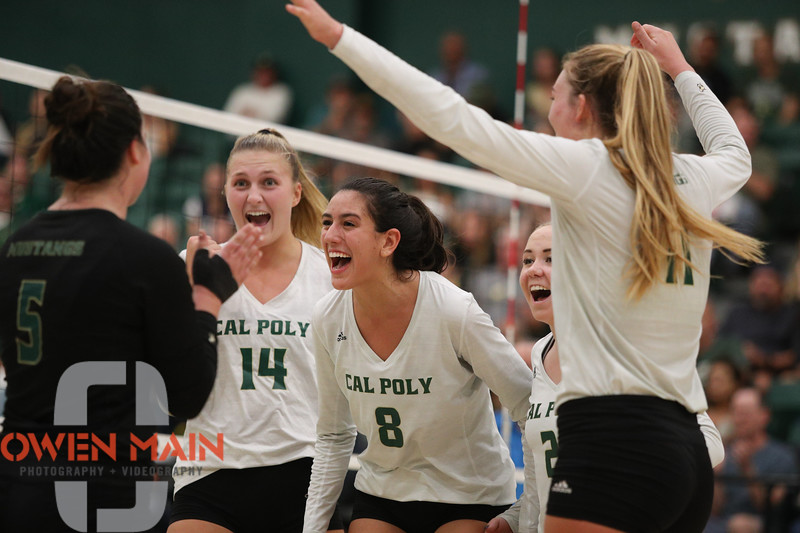 #22 Cal Poly hosted #9UCLA at Mott Athletics Center in San Luis Obispo. 9/6/187:42:33 PM <br /> <br /> Photo by Owen Main