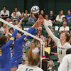 #22 Cal Poly hosted #9UCLA at Mott Athletics Center in San Luis Obispo. 9/6/187:35:44 PM <br /> <br /> Photo by Owen Main