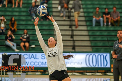 #22 Cal Poly hosted #9UCLA at Mott Athletics Center in San Luis Obispo. 9/6/185:36:39 PM   Photo by Owen Main